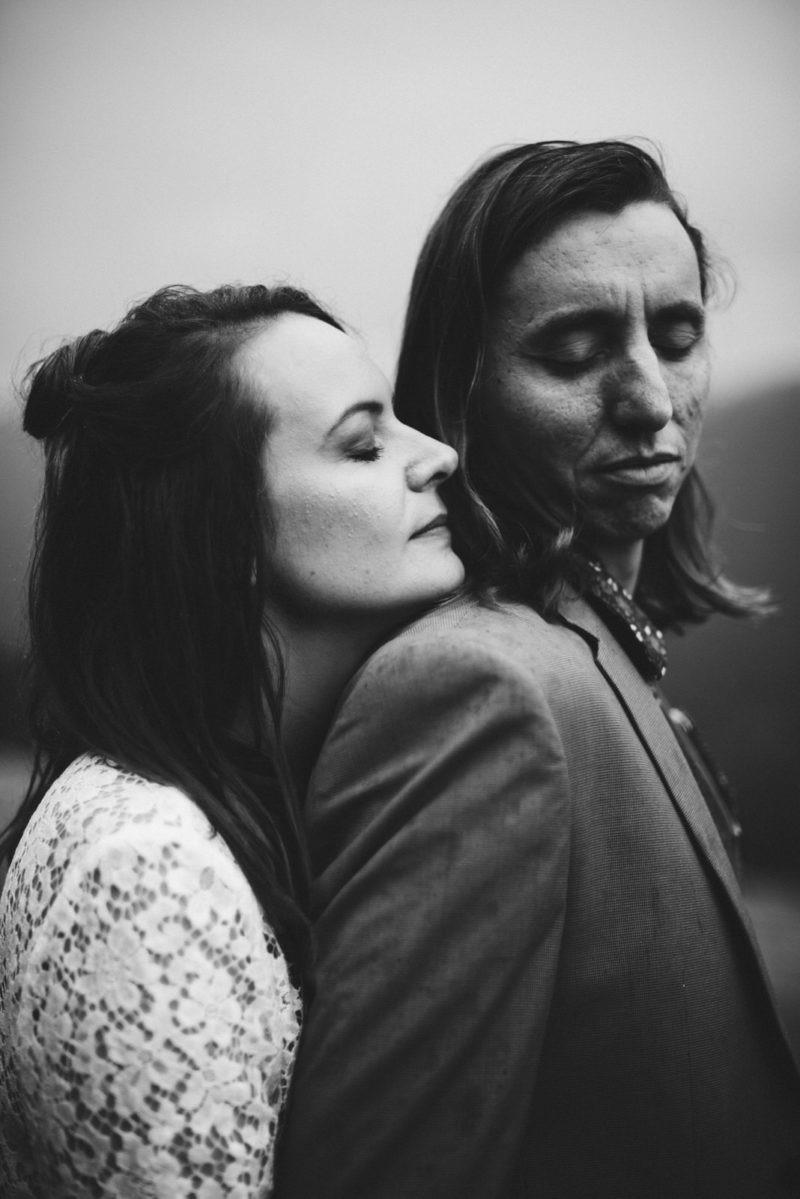 photo de mariage noir et blanc