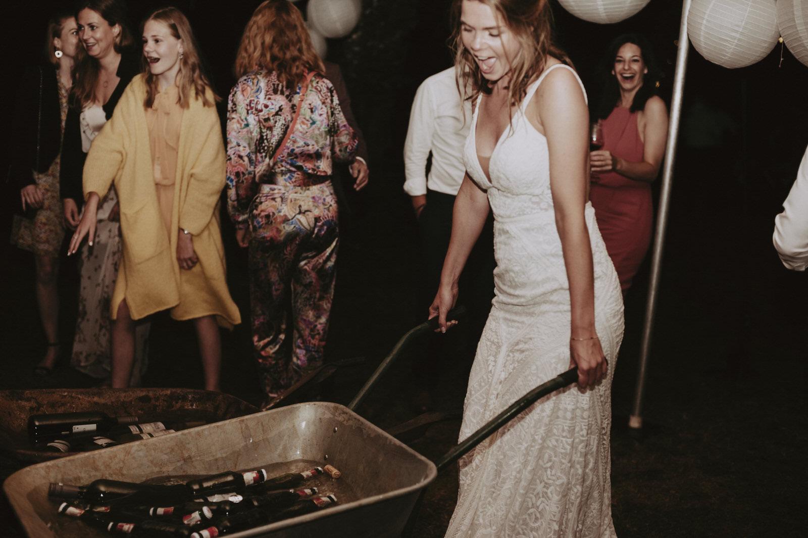 soirée de mariage festive à tulle